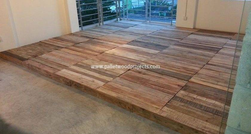 Pallet Wood Flooring Ideas Projects