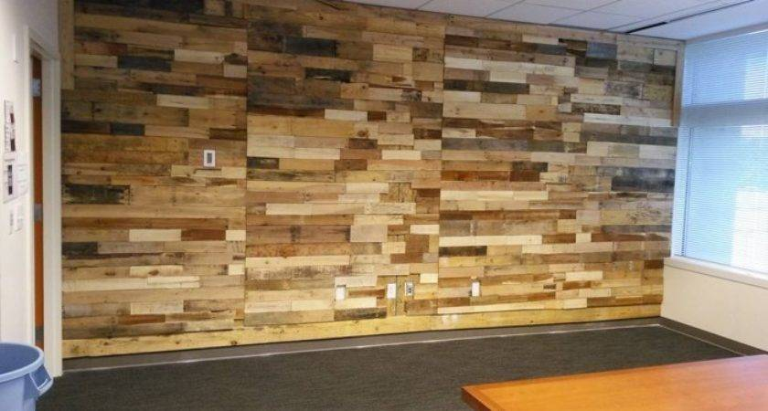 Pallet Wood Powered Accent Wall Ideas Recycled