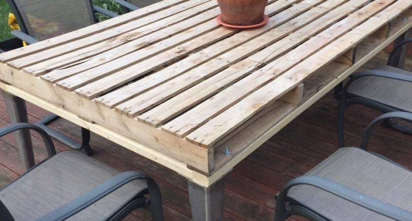 Patio Coffee Table Out Wooden Pallets Pallet Ideas