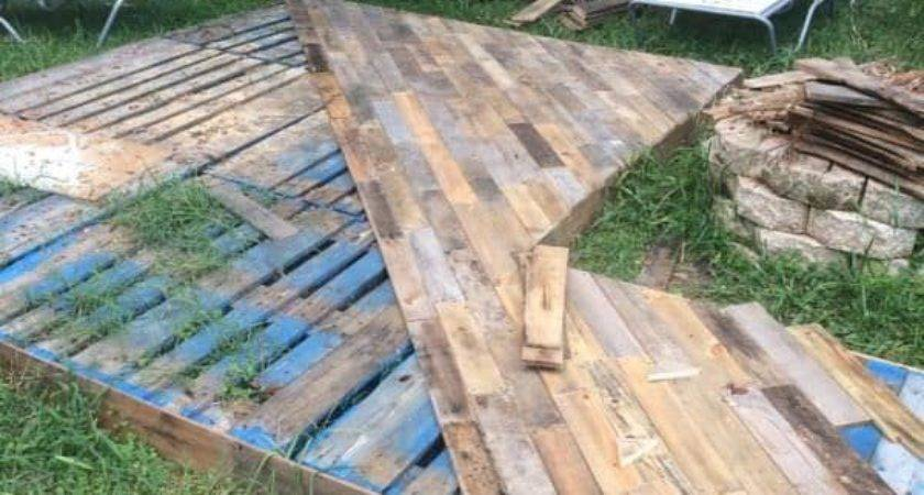 Patio Deck Out Wooden Pallets