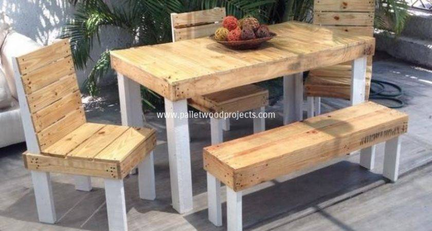 Patio Furniture Made Wooden Pallets Pallet Wood
