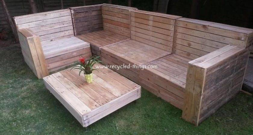 Patio Furniture Pallet Wood Recycled Things
