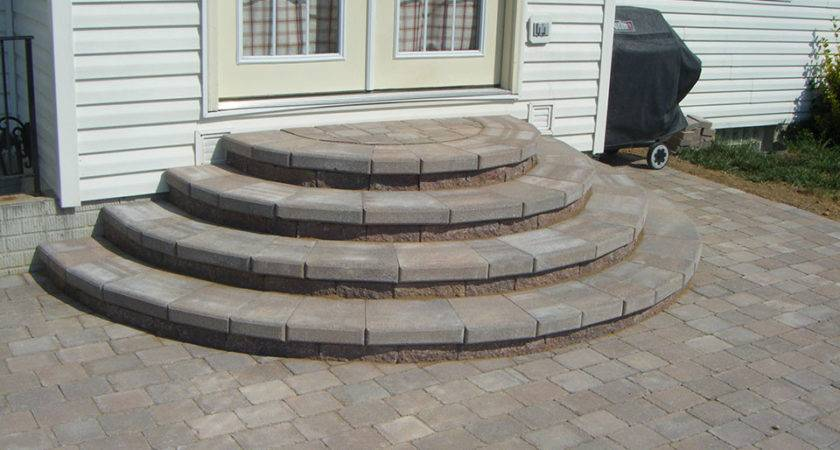 Pavers Patio Ideas Paver Stairs Steps Design