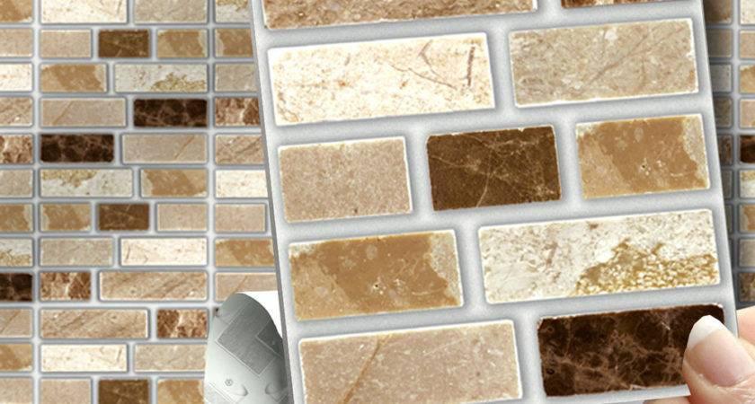 Peel Stick Stone Tablet Self Adhesive Wall Tiles