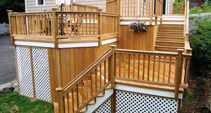 Plans Wood Deck Designs