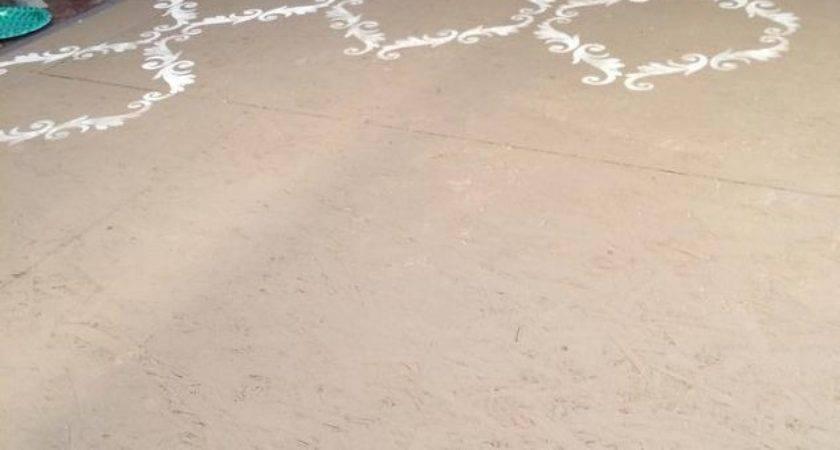 Plywood Floor Stenciled Chalk Paint Hometalk