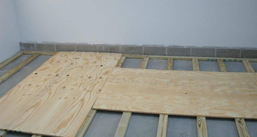 Plywood Subfloor Over Concrete Houses Flooring
