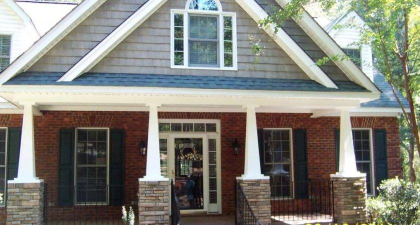 Porch Designs Ttages Beautiful Red Brick Homes