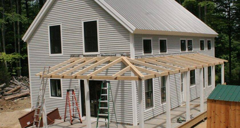 Porch Roof Frame Plans Construction