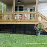 Porch Skirting Vinyl Lattice Panels Landscaping