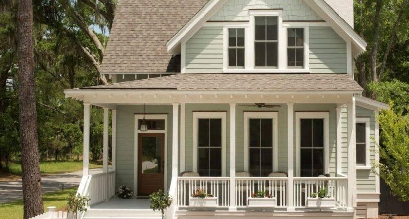 Porch Small House Plans Porches Farmhouse Wrap Around