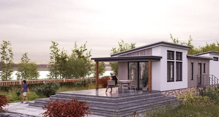 Prefab Mobile Homes Steel Frame Green Terra