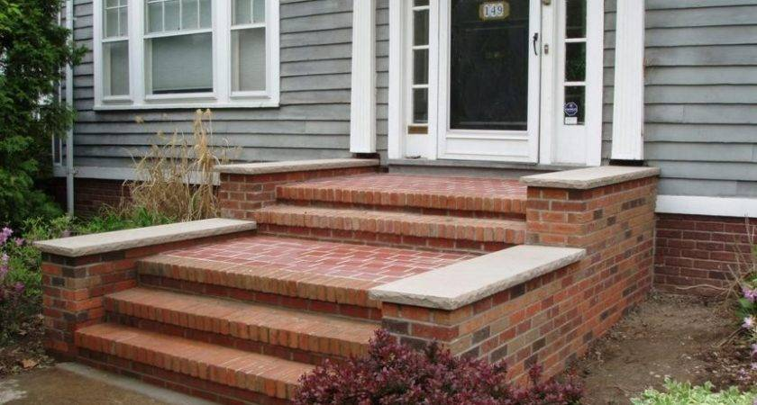Premade Steps Porch Cliff Road Residence Brown