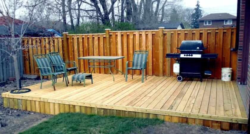Pressure Treated Platform Deck Deckcellence Builders