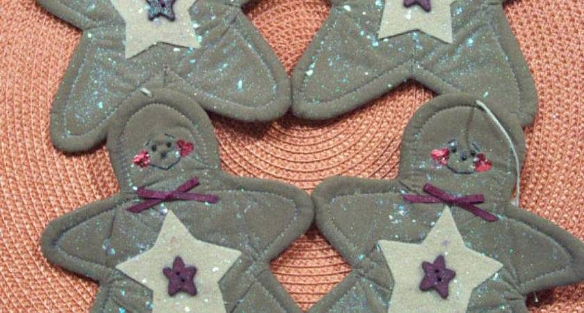 Primitive Country Gingerbread Cookies Fabric Christmas