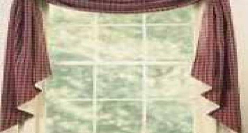 Primitive Country Kitchen Curtains Fishtail
