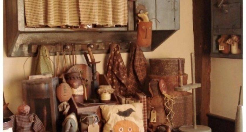 Primitive Fall Kitchen Photos