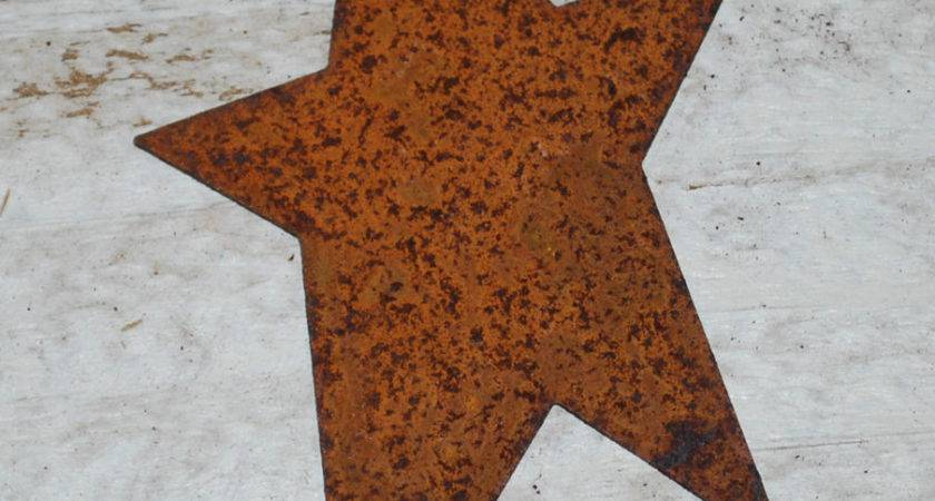Primitive Rusty Tin Stars Craft Supply Ebay