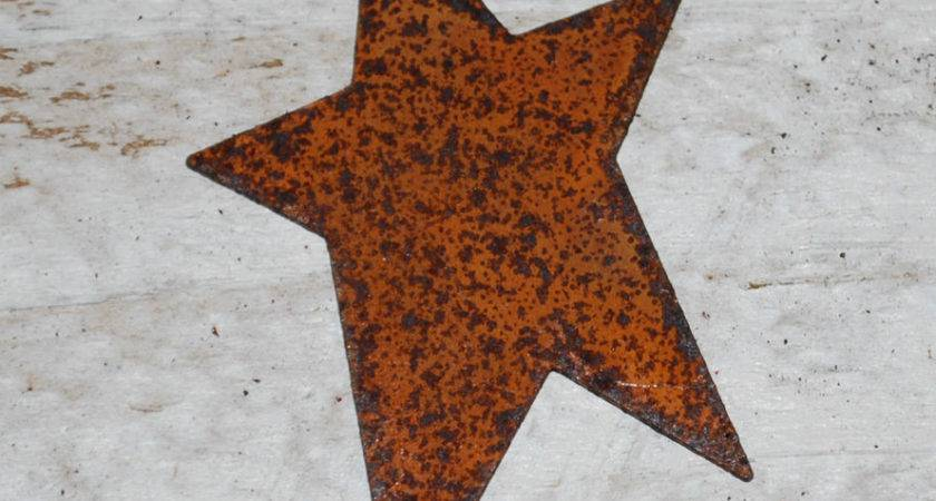 Primitive Rusty Tin Stars Crafts Ebay