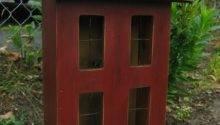 Primitive Wooden Lighted Saltbox House Overtheridgeprims