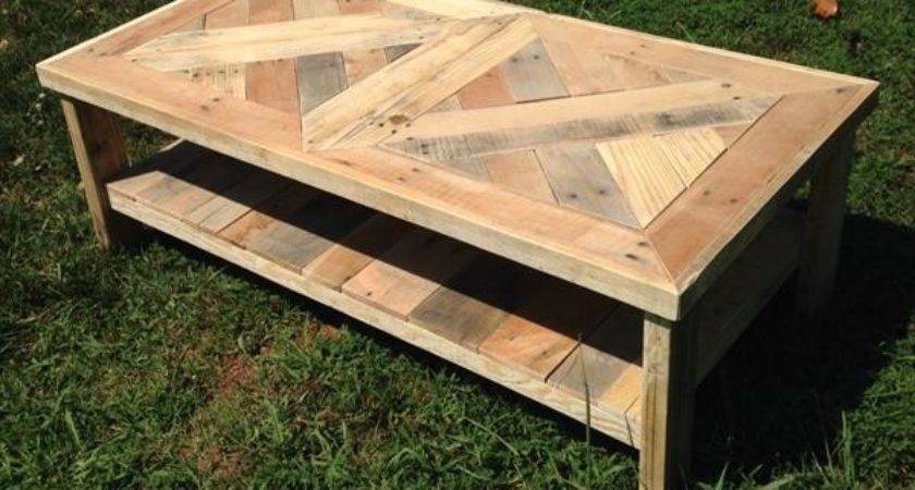 Raised Pallet Coffee Table Furniture Plans