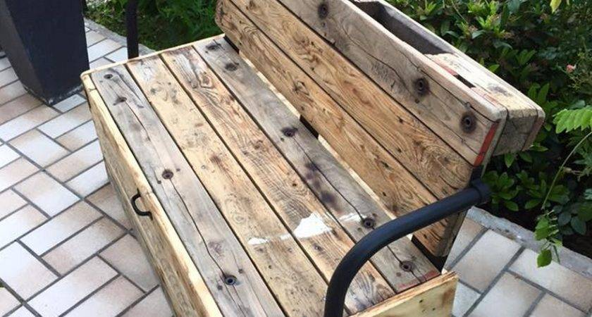 Reclaimed Garden Pallet Bench Ideas Recycled