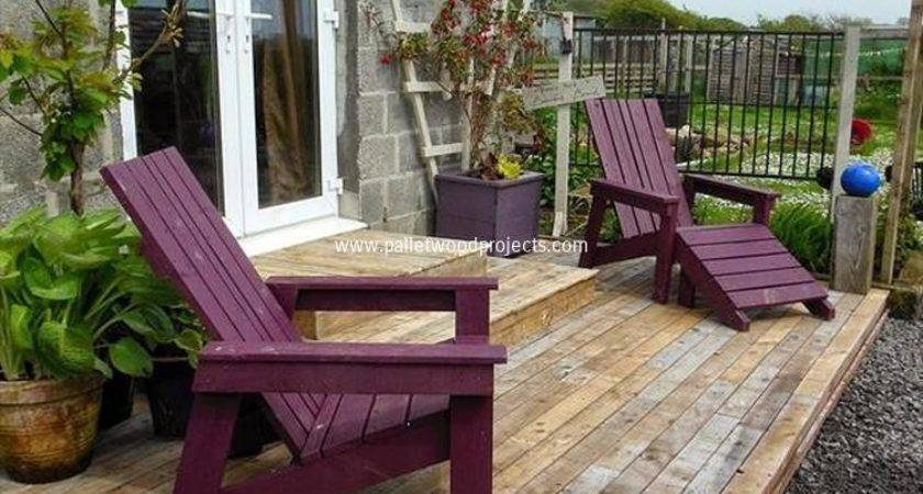 Reclaimed Pallet Adirondack Chairs Wood Projects