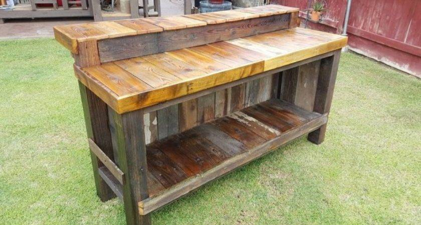 Reclaimed Pallet Wood Bar Table Furniture Projects