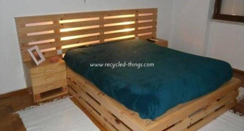 Recycled Pallet Bed Frame Projects Things