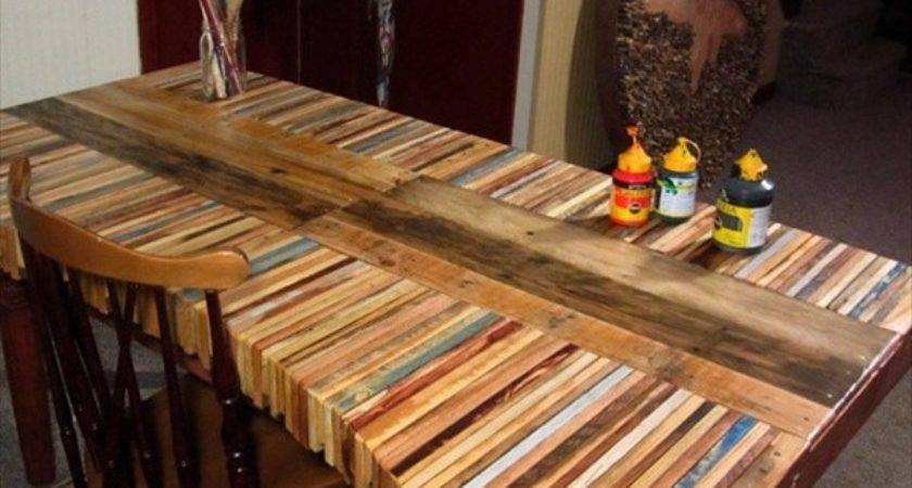 Recycled Pallet Dining Table Perfect Ideas