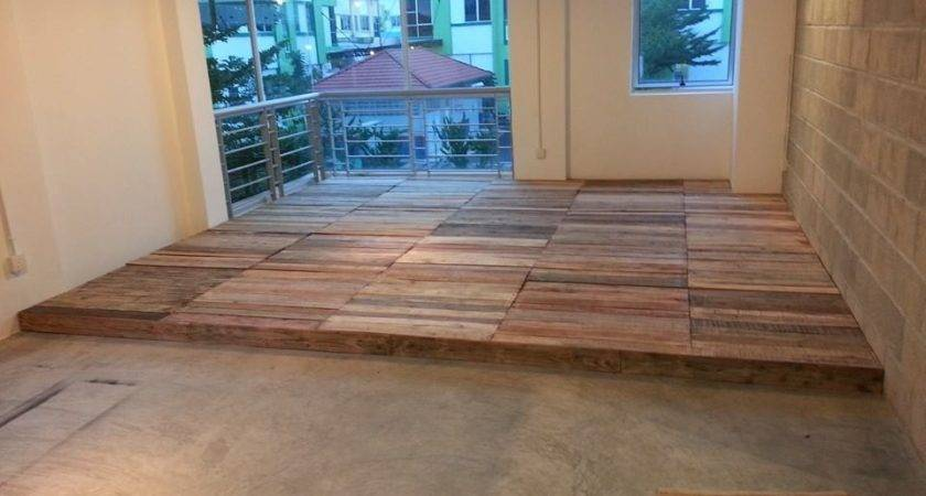 Recycled Pallet Flooring Diy Pallets Floors Home