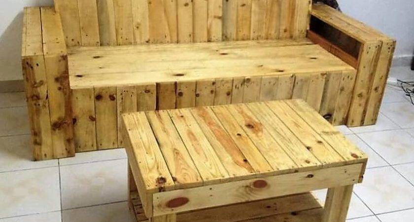 Recycled Wood Pallet Living Room Furniture Ideas