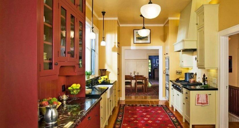 Red Kitchen Decor Modern Retro Design