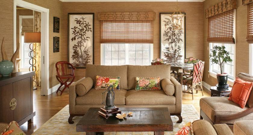 Relaxing Brown Tan Living Room Designs
