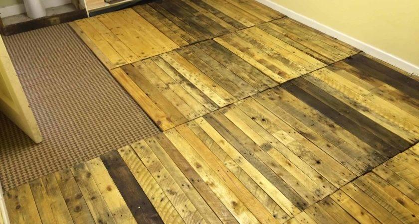 Removable Pallet Kitchen Floor Pallets