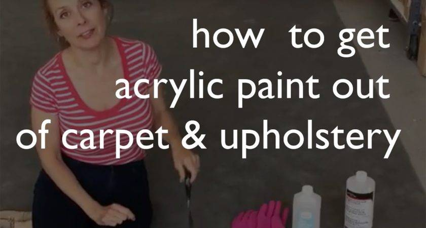 Remove Acrylic Paint Carpet Upholstery Youtube