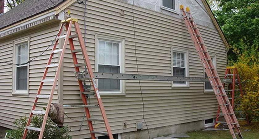 Repairs Install Vinyl Siding Ladder