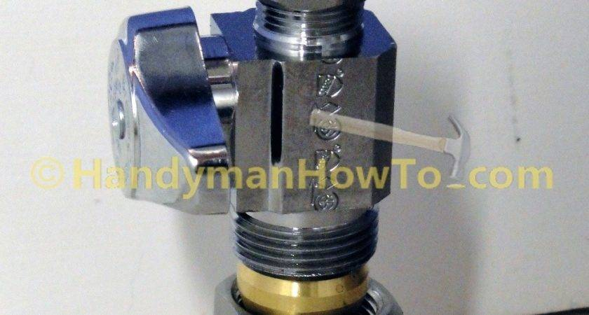 Replace Leaky Toilet Water Shutoff Valve Part