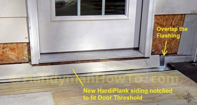 Replace Wood Deck Ledger Board Flashing Hardiplank Siding