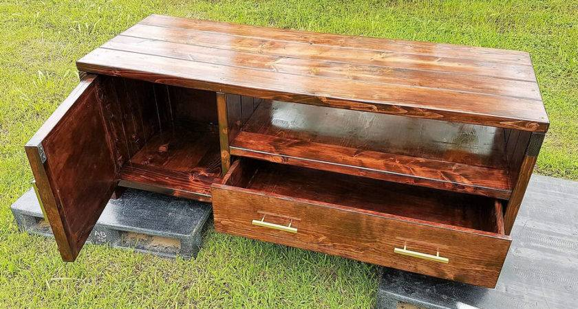 Repurposed Wooden Pallets Made Stand Idea Pallet Ideas