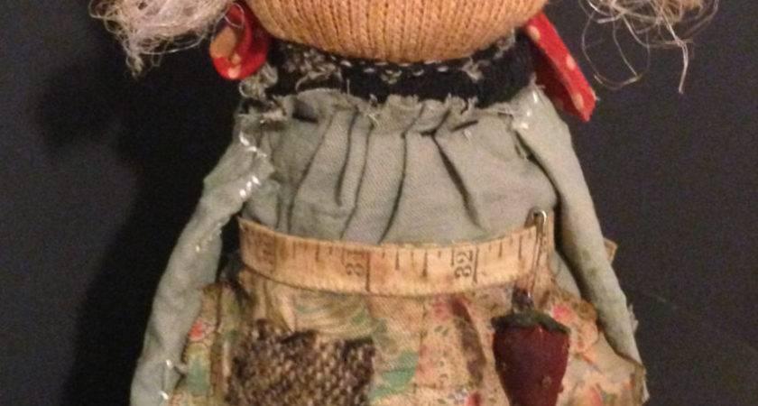 Reserved Gina Primitive Bottle Doll Handmade Sock