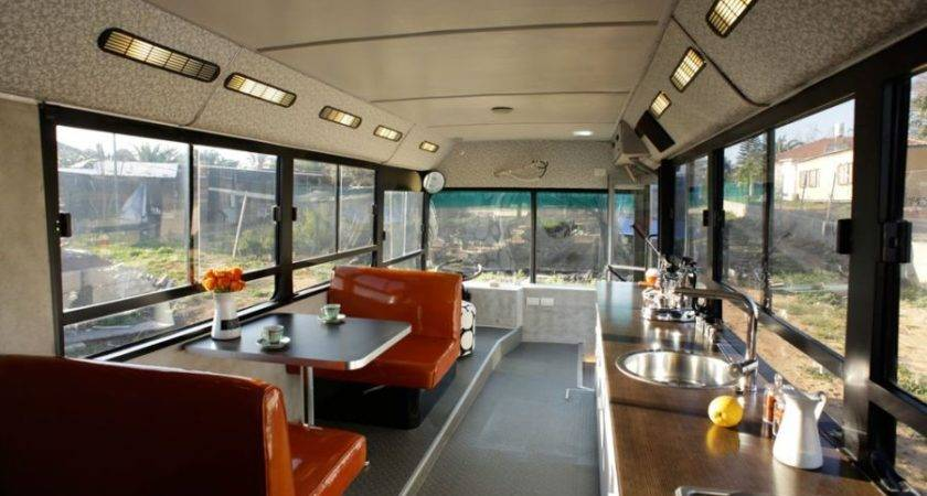 Retired City Bus Converted Into Tiny Living Space