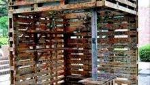 Reuse Old Pallets Make Bar Dump Day