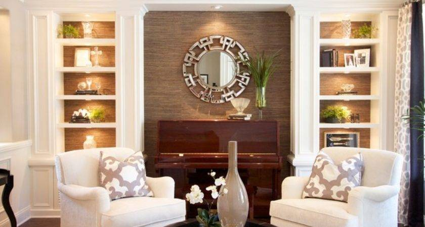 Robeson Design Living Room Painted Built Storage