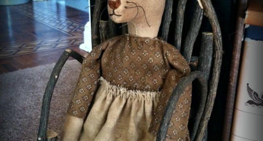 Rock River Stitches New Primitive Bunny Doll