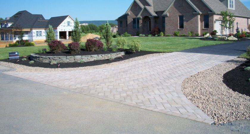 Rustic Backyards End Driveway Landscaping Ideas