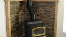 Rustic Corner Hearth Design