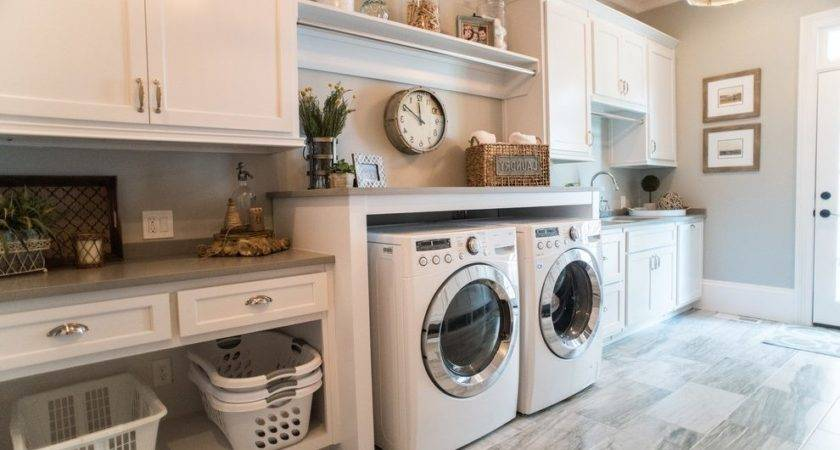 Rustic Laundry Room Decor Transitional