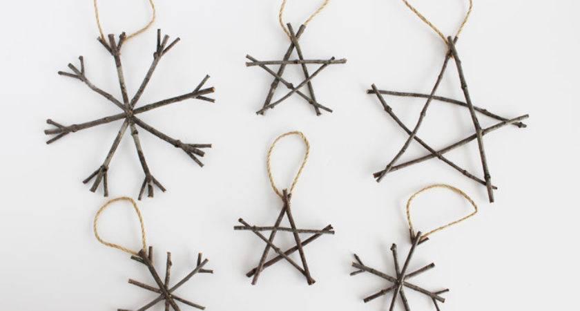 Rustic Twig Christmas Ornaments Ideas
