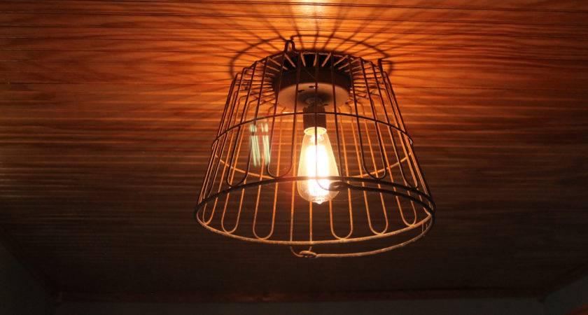 Salvage Hunt Egg Wire Basket Light Fixture